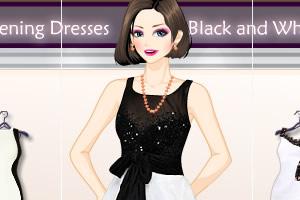 黑白晚礼服