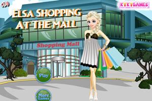 艾尔莎在商场购物