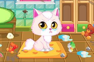 小猫打扫房间