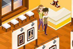 经营女孩的画廊
