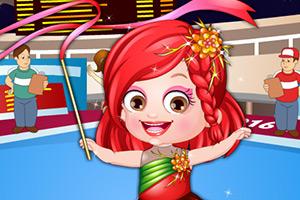 可爱宝贝当体操运动员