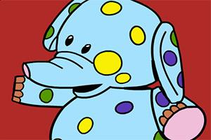 小象填颜色