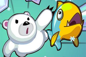 北极熊爱吃鱼
