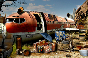 逃离陨落的飞机