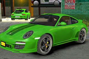 绿色保时捷找轮胎