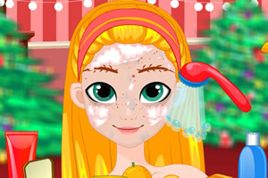 圣诞精灵闪亮妆容