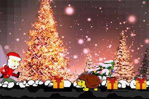 奔跑的圣诞老人