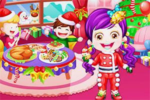 可爱宝贝的圣诞装