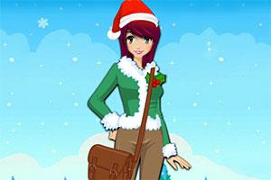 女孩圣诞节装扮2