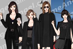 女士纯黑套装