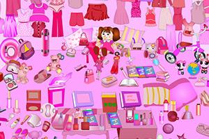 粉红色的客厅找物品