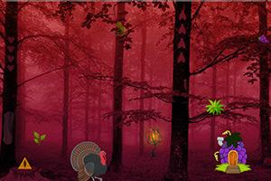 逃离感恩节火鸡森林