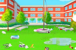 校园大扫除