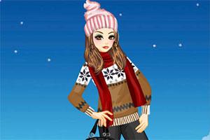 雪花毛衣装扮
