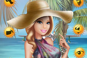 芭比沙滩照