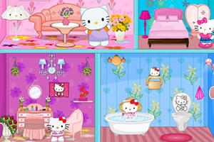 凯蒂猫布置娃娃房