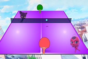 瓢虫女孩打乒乓