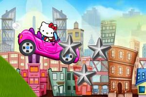 凯蒂猫粉红赛车