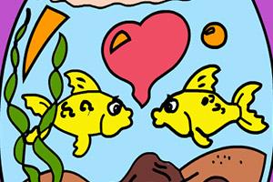 小爱鱼填颜色