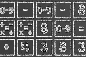 粉笔板算术题