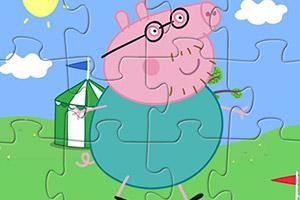 粉红猪趣味拼图