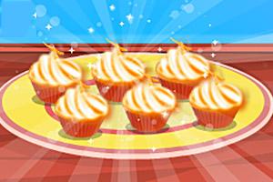 美味的橘子纸杯蛋糕