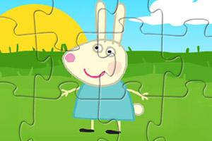 可爱小白兔拼图