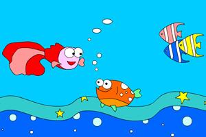 海底小鱼上色