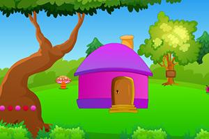 女孩逃出森林小屋