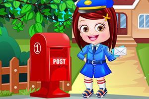可爱宝贝邮递员装扮