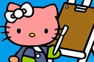 凯蒂猫全家福填色