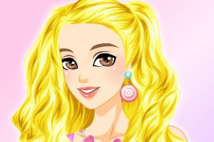 芭比娃娃长发装扮