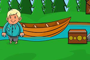 小男孩逃离湖畔