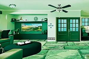 绿色系豪华套房逃脱