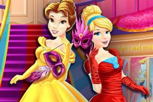 迪士尼公主参加舞会