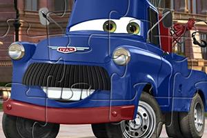 蓝色玩具卡通车