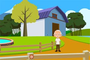 老人逃出村庄