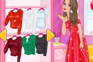 芭比的红色服饰