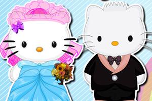 凯蒂猫的婚礼发型