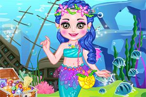 可爱的人鱼小公主