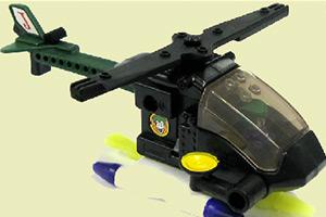 乐高直升机拼图
