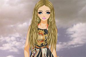 丝绸围巾连衣裙