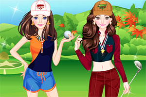 闺蜜打高尔夫