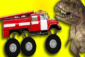 恐龙大脚车拼图
