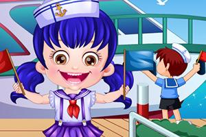 可爱宝贝当水手