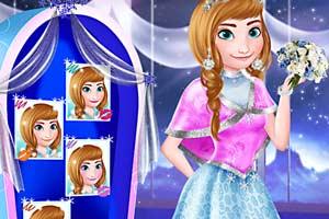 公主雪花装扮