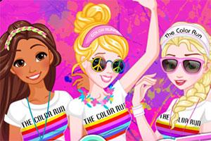 公主的彩色跑