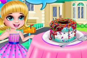冰淇淋甜甜圈烹饪