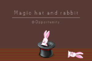 魔术帽和兔子