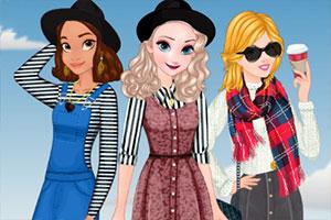 女孩的时尚秋装